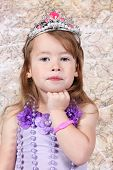 Little girl Dressed as Princess for halloween poster