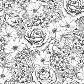 Teste padrão floral sem costura