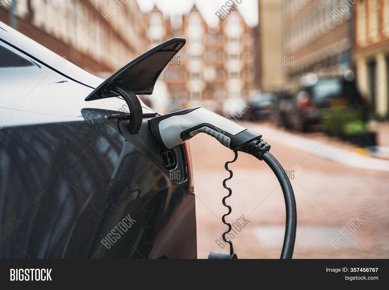 Electric Car Charging Image Photo Free Trial Bigstock