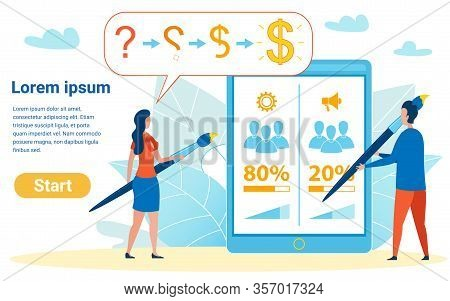 Step By Step Guide To Becoming Rich Illustration. Businesswoman Showing Student Way Of Making Money