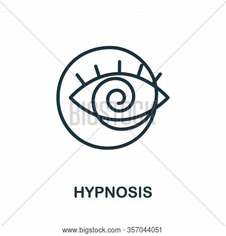 Hypnosis Icon From Alternative Medicine Collection. Simple Line Hypnosis Icon For Templates, Web Des