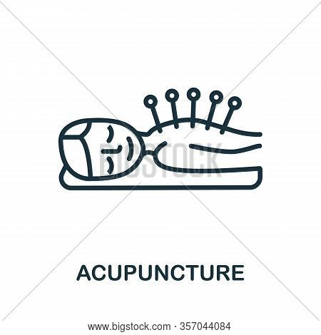 Acupuncture Icon From Alternative Medicine Collection. Simple Line Acupuncture Icon For Templates, W