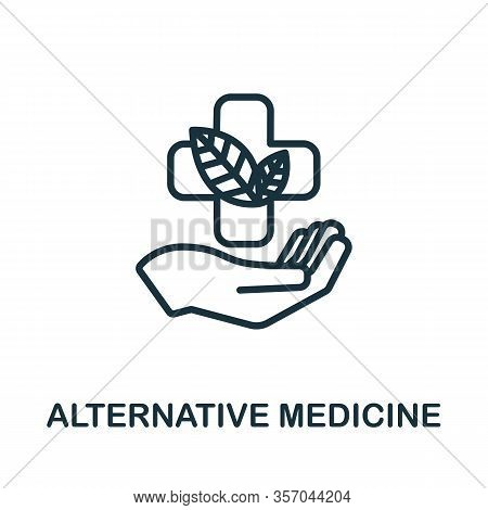 Alternative Medicine Icon. Simple Line Element Alternative Medicine Symbol For Templates, Web Design
