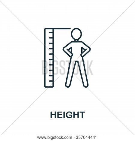 Height Icon From Health Check Collection. Simple Line Height Icon For Templates, Web Design And Info