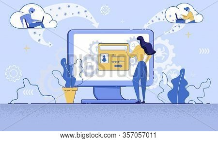 Internet User Personal, Confidential Data Protection And Safety, Phishing Attack Trendy Flat Vector