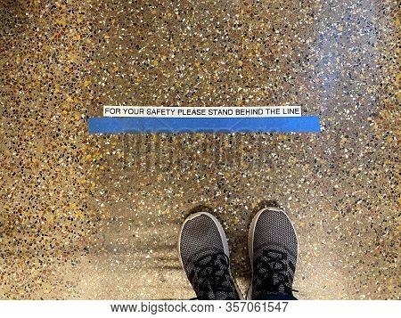 Social Distancing Floor Line