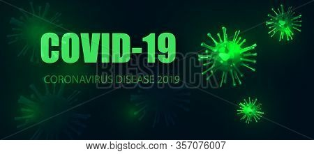 Coronavirus Covid-19. Microscopic View Of A Infectious Virus. Contagion And Propagation Of A Disease