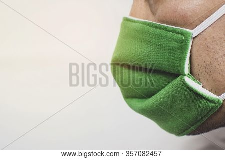 Medical Surgical Masks Worn On Doctors' Faces To Prevent Against Covid-19 Infection,corona Virus.