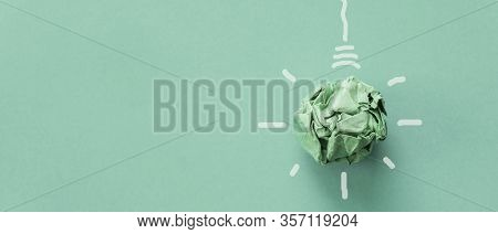 Green Paper Light Bulb, Corporate Social Responsibility, Responsible Business, Eco Friendly, Sustain