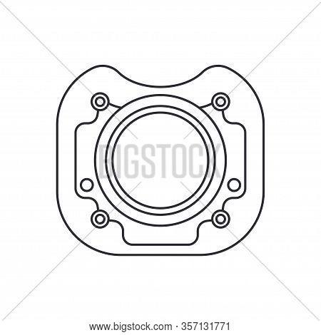 Line Vector Icon Auto Moto Parts Accessories - Gasket. Repair Service Equipment. Engine Elements Sho