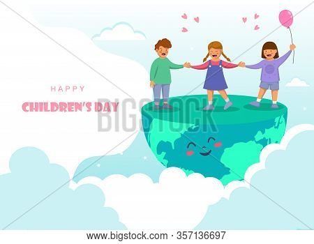 Happy Childrens Day. World Childrens Day Vector Background.