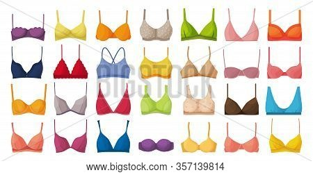 Bra Of Underwear Vector Cartoon Set Icon. Isolated Cartoon Set Icon Lingerie. Vector Illustration Br