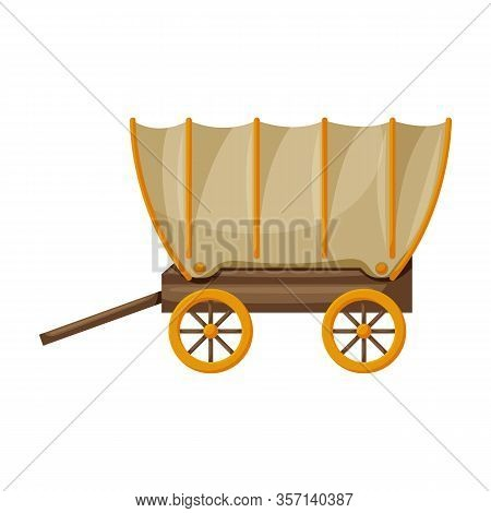 Wagon Of West, Wild Vector Icon.cartoon Vector Icon Isolated On White Background Wagon Of West, Wild
