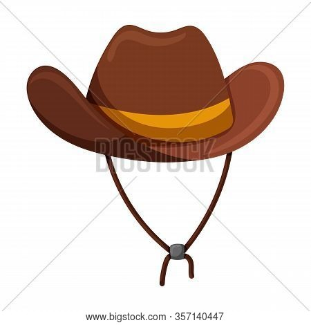 Hat Cowboy Vector Icon.cartoon Vector Icon Isolated On White Background Hat Cowboy.