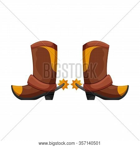 Cowboy Boot Vector Icon.cartoon Vector Icon Isolated On White Background Cowboy Boot.