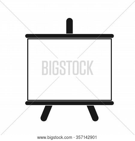Information Board Icon. Menu Black And White Board. Flat Vector Illustration On White Background.