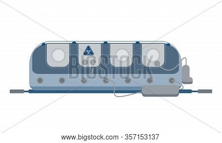 Medical Isolation Box For Transporting Patients With Infectious Diseases. China Pathogen Respiratory