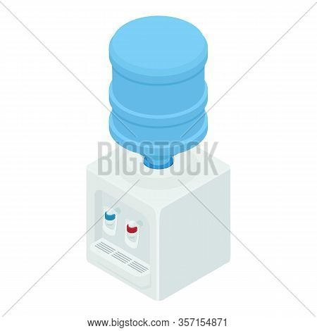 Home Water Cooler Icon. Isometric Of Home Water Cooler Vector Icon For Web Design Isolated On White
