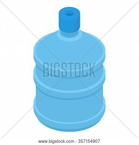 Water Cooler Bottle Icon. Isometric Of Water Cooler Bottle Vector Icon For Web Design Isolated On Wh