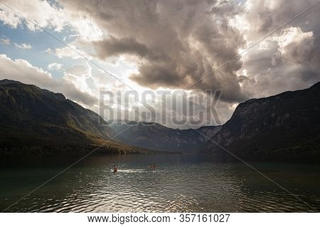 View Of Scenic Bohinj Lake,  The Largest Permanent Lake In Slovenia, Located Within The Bohinj Valle