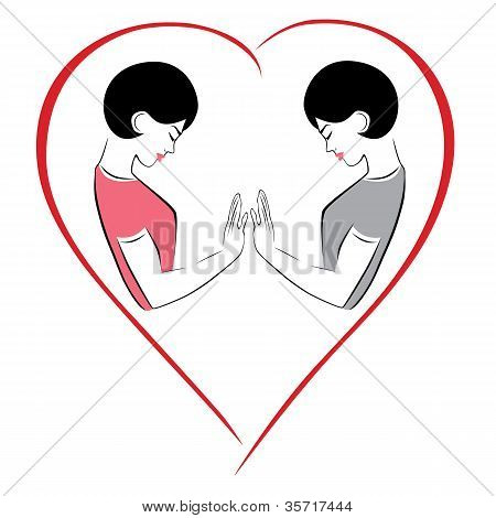Illustration of a couple gay