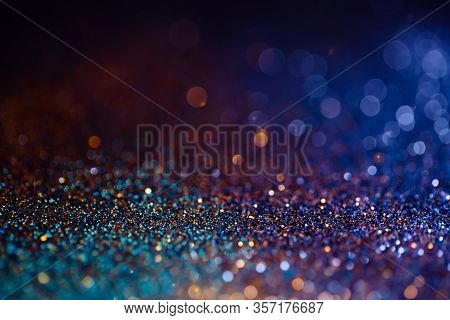 Decoration Twinkle Lights Background, Abstract Sparkle Backdrop With Circles, Modern Design Wallpape