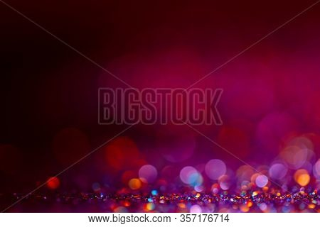 Decoration Twinkle Lights Background, Abstract Sparkle Backdrop With Circles, Modern Design Overlay