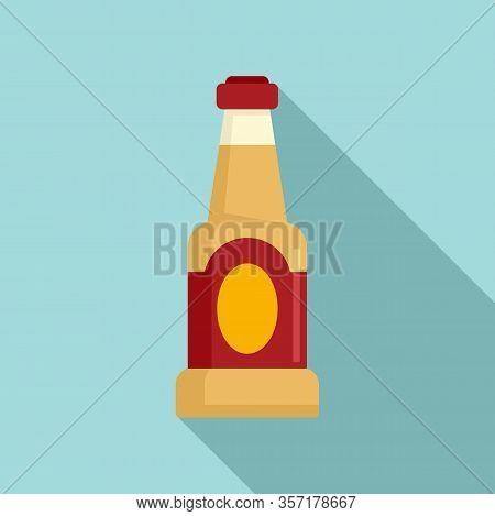 Condiment Bottle Icon. Flat Illustration Of Condiment Bottle Vector Icon For Web Design