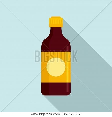 Soy Sauce Bottle Icon. Flat Illustration Of Soy Sauce Bottle Vector Icon For Web Design