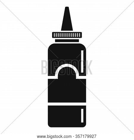 Mustard Plastic Bottle Icon. Simple Illustration Of Mustard Plastic Bottle Vector Icon For Web Desig
