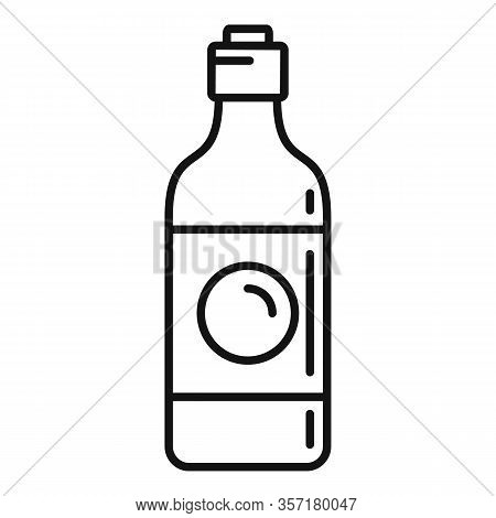 Soy Sauce Bottle Icon. Outline Soy Sauce Bottle Vector Icon For Web Design Isolated On White Backgro