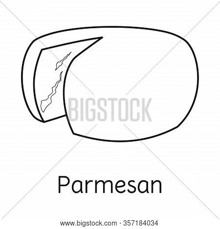 Vector Illustration Of Cheese And Parmesan Symbol. Web Element Of Cheese And Slice Stock Vector Illu