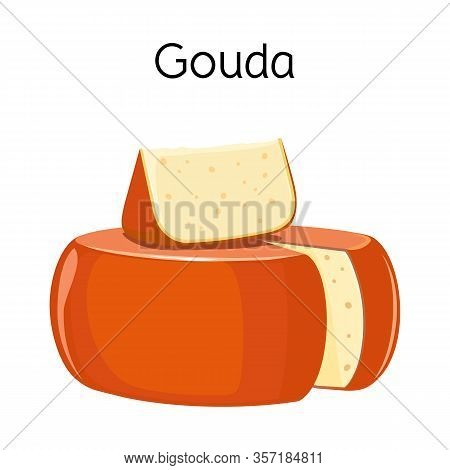 Vector Illustration Of Cheese And Gouda Symbol. Web Element Of Cheese And Block Vector Icon For Stoc