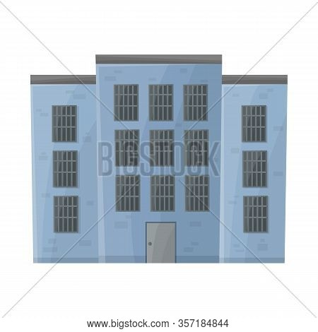Isolated Object Of Prison And Building Icon. Web Element Of Prison And Jailhouse Vector Icon For Sto