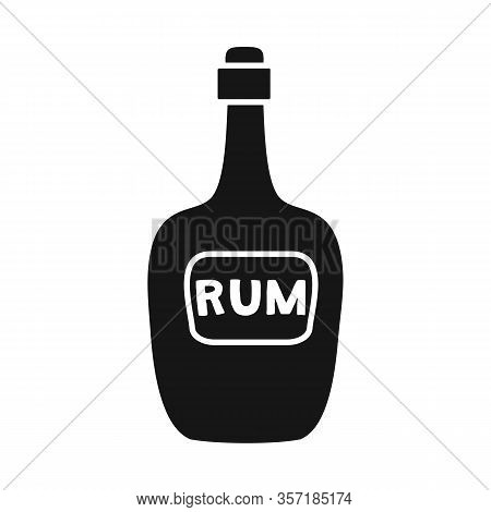 Vector Illustration Of Bottle And Rum Logo. Graphic Of Bottle And Bourbon Stock Vector Illustration.