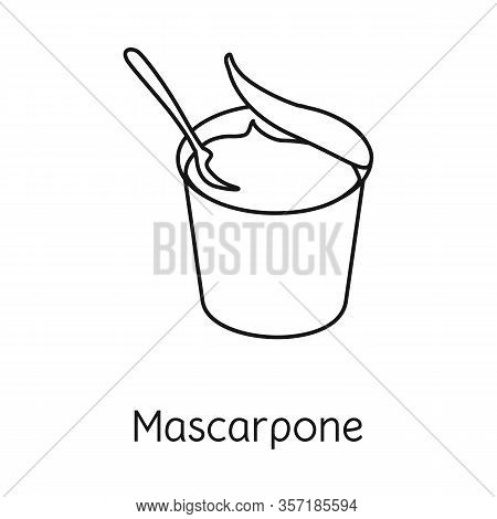Vector Design Of Mascarpone And Cheese Symbol. Graphic Of Mascarpone And Meal Stock Vector Illustrat
