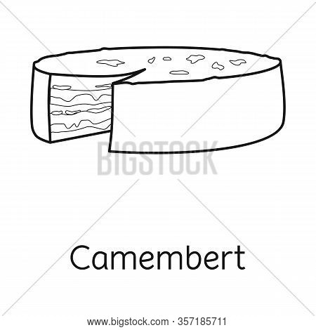 Vector Design Of Cheese And Maasdam Logo. Web Element Of Cheese And Piece Vector Icon For Stock.