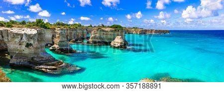 Wonderful sea scenery in Puglia. Italy.