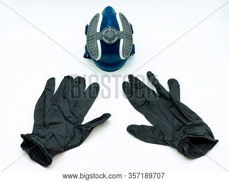 Coronavirus Mask And Gloves. Concept Virus. Covid-19.