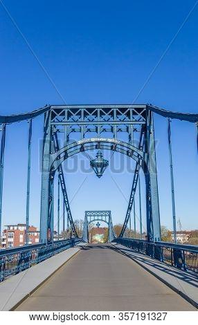 Historic Kaiser Wilhelm Bridge In Wilhelmshaven, Germany