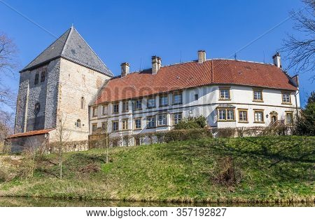 Historic Castle Schloss Rheda In Rheda-wiedenbruck, Germany