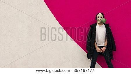 Artistic Stylish Fashion Photography Banter Concept Of Modern Actual Coronavirus Pandemic Quarantine