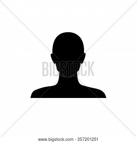 Anonymous Female Face Avatar. Incognito Woman Head Silhouette.