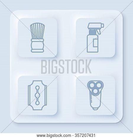 Set Line Shaving Brush, Hairdresser Pistol Spray Bottle, Blade Razor And Electric Razor Blade For Me