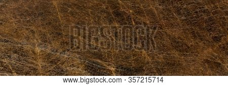 Brown Granite Texture As Background. Long Slab Pattern For Your Interior Design Or Web Site.