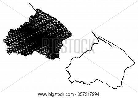 Barima-waini Region (administrative Regions Of Guyana, Co-operative Republic Of Guyana) Map Vector I