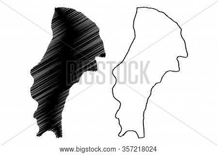 Demerara-mahaica Region (administrative Regions Of Guyana, Co-operative Republic Of Guyana) Map Vect