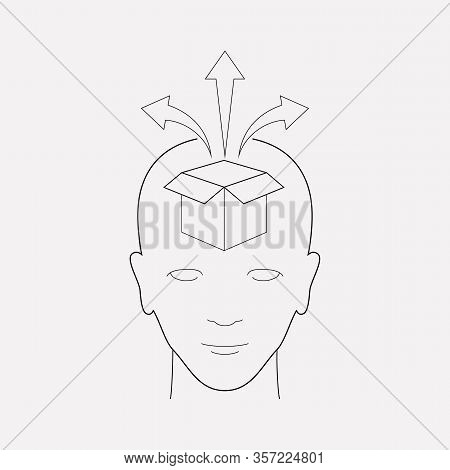 Think Outside The Box Icon Line Element. Vector Illustration Of Think Outside The Box Icon Line Isol