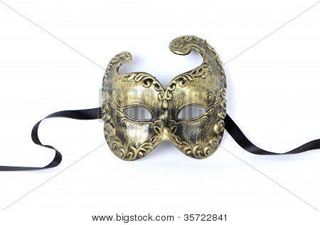 Gold Filigree Venetian Mask