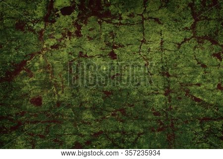 Old Corroded Metal Surface With Rust Spots As A Textured Background.